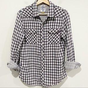 44MM Gray White Checked Shirt